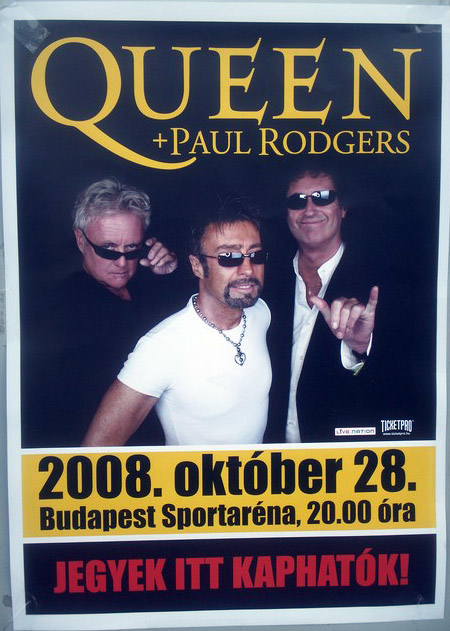 Queen + Paul Rodgers in Budapest on 28.10.2008