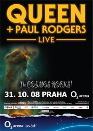 Poster - Queen + Paul Rodgers in Prague on 31.10.2008