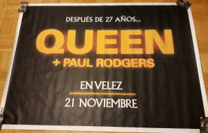 Poster - Queen + Paul Rodgers in Buenos Aires on 21.11.2008