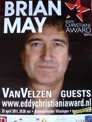 Poster - Brian May in Vlissingen on 23.04.2011
