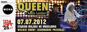 Poster - Queen + Adam Lambert in Wroclaw on 07.07.2012