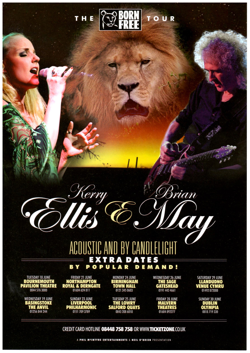Brian May on tour with Kerry Ellis in June 2013