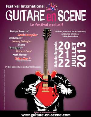Poster - Brian May with Kerry Ellis in Saint-Julien-en-Genevois on 21.07.2013