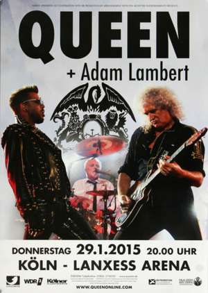 Poster - Queen + Adam Lambert in Cologne on 29.01.2015