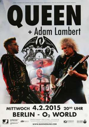 Poster - Queen + Adam Lambert in Berlin on 04.02.2015