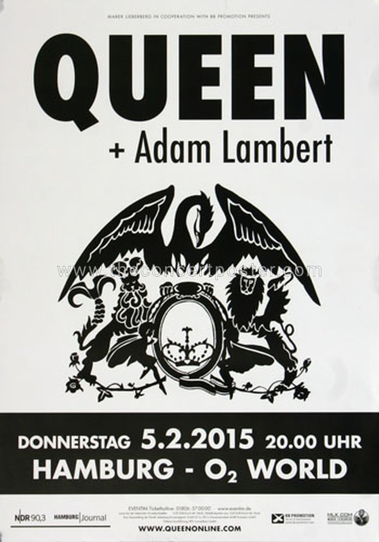 Queen + Adam Lambert in Hamburg on 05.02.2015