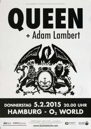 Poster - Queen + Adam Lambert in Hamburg on 05.02.2015
