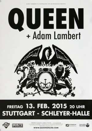 Poster - Queen + Adam Lambert in Stuttgart on 13.02.2015
