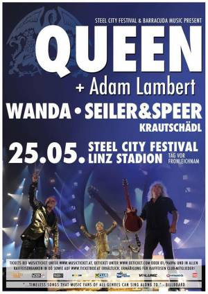 Poster - Queen + Adam Lambert in Linz on 25.05.2016