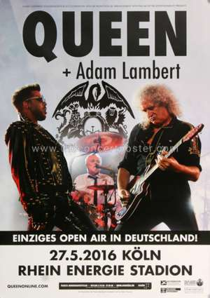 Poster - Queen + Adam Lambert in Cologne on 27.05.2016