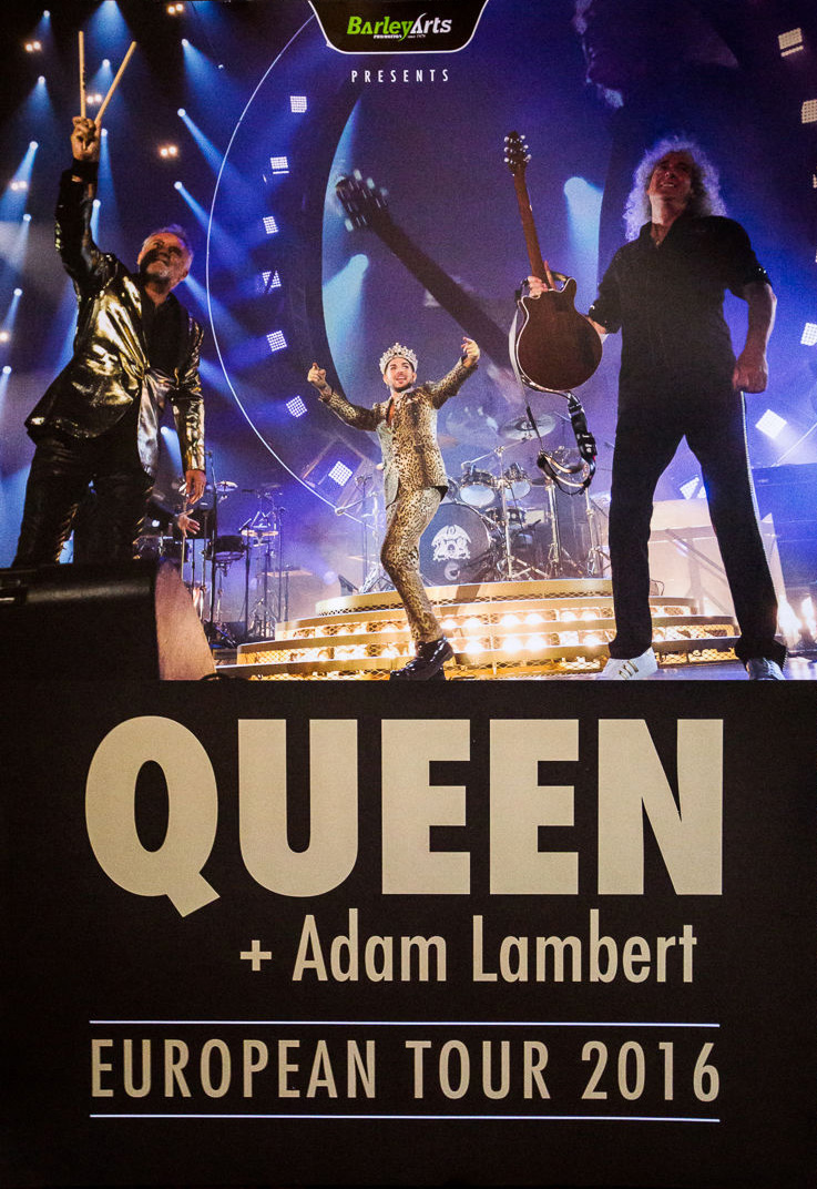 Queen + Adam Lambert European tour poster (part of VIP packages)