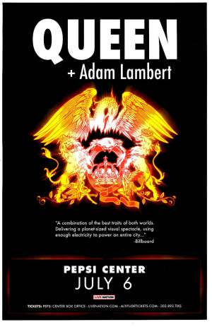 Poster - Queen + Adam Lambert in Denver on 06.07.2017