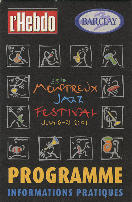 Montreux Jazz Festival program (7.7.2001)