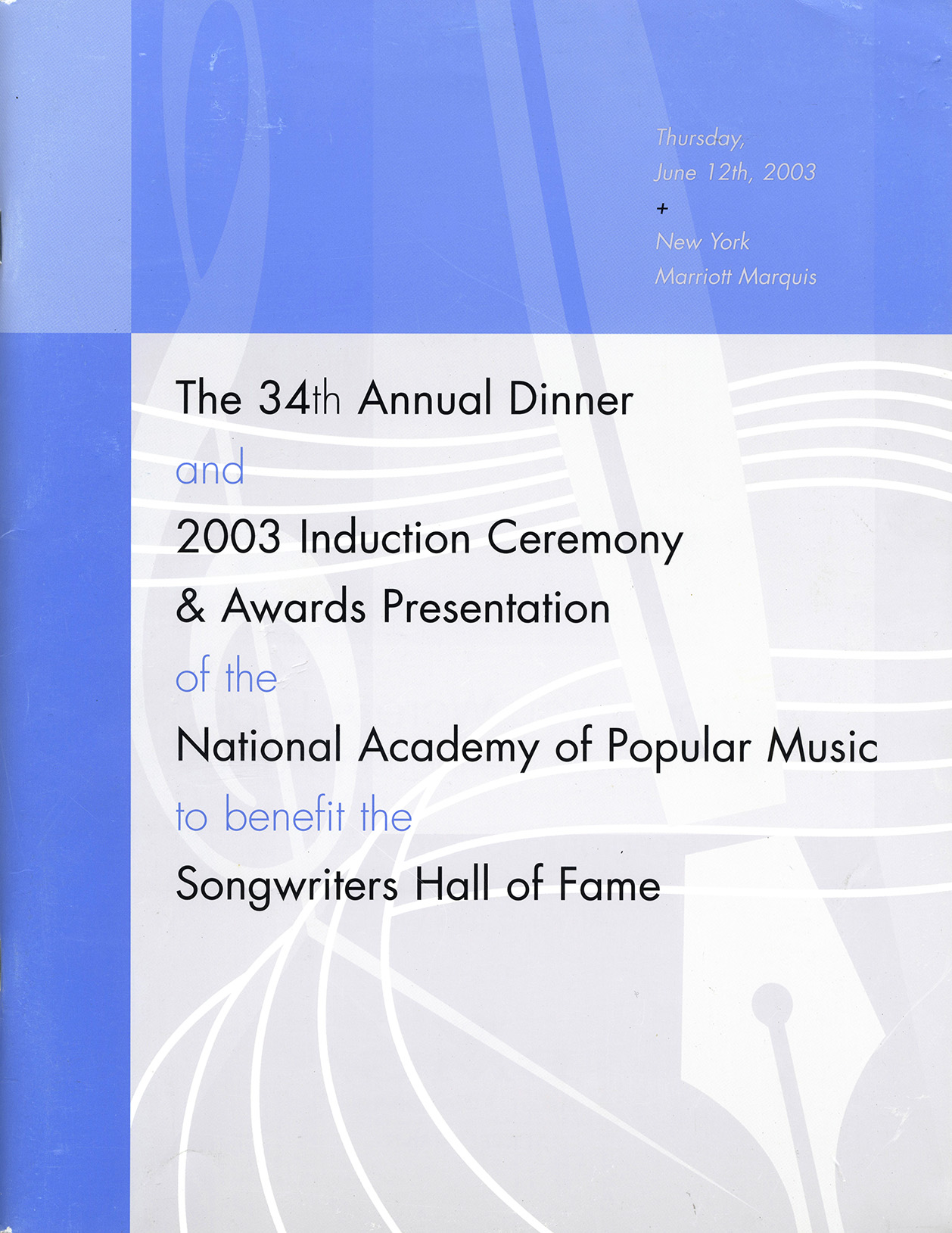 Songwriter's Hall Of Fame program (USA)
