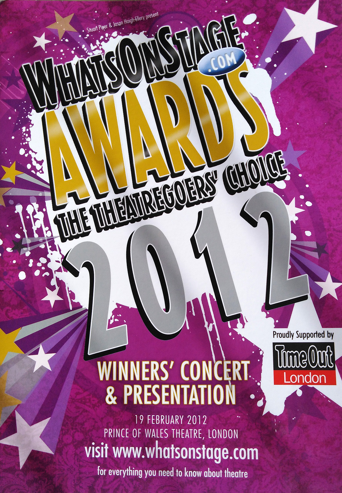 WhatsOnStage Awards 2012