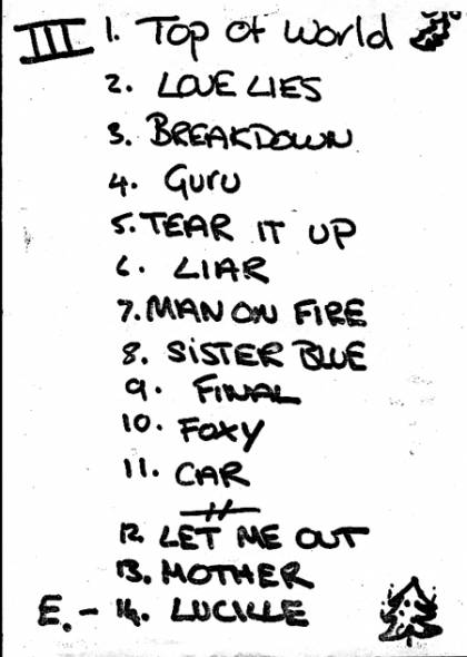Setlist - The Cross in London, 07.12.1990 - Fan club party with Brian May