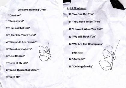 Setlist - Kerry Ellis in London, 01.05.2011 - (with Brian)