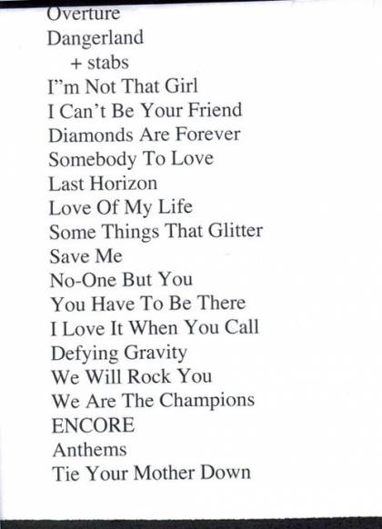 Setlist - Kerry Ellis in Nottingham, 08.05.2011 - (with Brian)