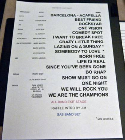 Setlist - Brian May in the Savoy, 03.09.2012