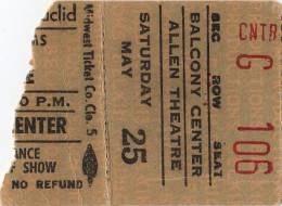 Ticket for a Mott The Hoople concert in Cleveland, USA where Queen were scheduled as a support band but couldn't play due to Brian's illness