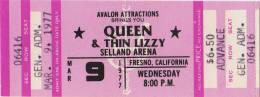 Ticket for a cancelled concert (Fresno, USA)