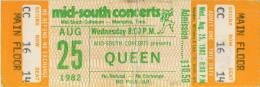 Ticket for a cancelled concert (Memphis, USA)