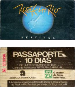 Special ticket for the whole Rock In Rio festival (10 days)