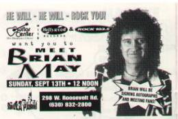 Ticket for an autograph session with Brian (Chicago, USA)