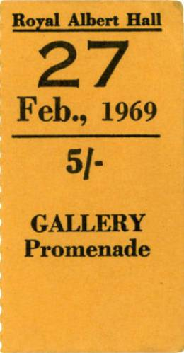Ticket stub - Smile live at the Royal Albert Hall, London, UK [27.02.1969]