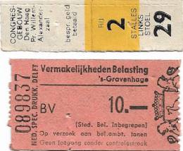 Ticket stub - Queen live at the Congres Gebouw, Hague, The Netherlands [08.12.1974]