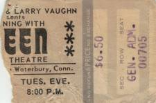 Ticket stub - Queen live at the Palace Theatre, Waterbury, CT, USA [27.01.1976]