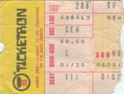 Ticket stub - Queen live at the Beacon Theatre, New York, NY, USA [08.02.1976]