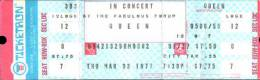 Ticket stub - Queen live at the Forum, Inglewood, CA, USA [03.03.1977]
