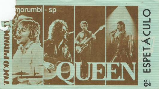 Ticket stub - Queen live at the Estádio do Morumbi, Sao Paulo, Brazil [21.03.1981]