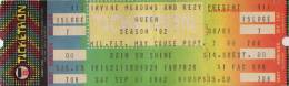 Ticket stub - Queen live at the Irvine Meadows, Irvine, CA, USA [11.09.1982]