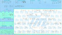 Ticket stub - Brian May live at the Carver Hawkeye Sport Arena, Iowa City, IA, USA [20.03.1993]