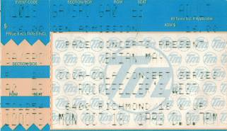 Ticket stub - Brian May live at the Rockefeller's West, Houston, TX, USA [18.10.1993]