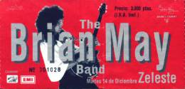 Ticket stub - Brian May live at the Zeleste, Barcelona, Spain [14.12.1993]