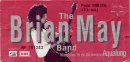 Ticket stub - Brian May live at the Aqualung, Madrid, Spain [15.12.1993]