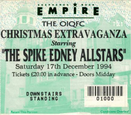Ticket stub - Brian May live at the Shepherds Bush Empire, London, UK (with SAS Band) [17.12.1994]