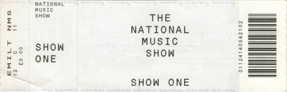 Ticket stub - Brian May live at the Wembley Exhibition Centre, London, UK (National Music Show) [28.11.1999]