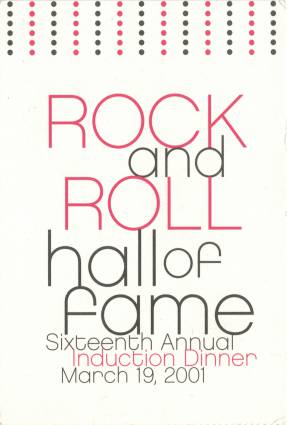 Ticket stub - Brian May + Roger Taylor live at the Waldorf Astoria Hotel, New York, NY, USA (Hall Of Fame induction ceremony) [19.03.2001]