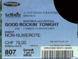 Ticket stub - Brian May live at the Stravinski Hall, Montreux, Switzerland (Montreux Jazz festival) [07.07.2001]