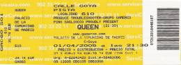 Ticket stub - Queen + Paul Rodgers live at the Palacio De Deportes, Madrid, Spain [01.04.2005]