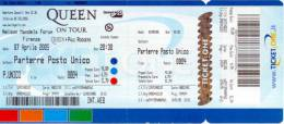 Ticket stub - Queen + Paul Rodgers live at the Nelson Mandela Forum, Firenze, Italy [07.04.2005]