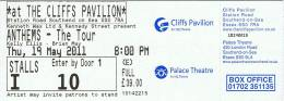 Ticket stub - Brian May live at the Cliffs Pavillion, Southend, UK [19.05.2011]