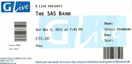 Ticket stub - Roger Taylor live at the G Live, Guildford, UK (with SAS Band) [03.12.2011]