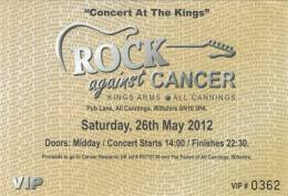 Ticket stub - Brian May live at the The Kings Arms, All Cannings, UK (Rock Against Cancer with Kerry Ellis and SAS Band) [26.05.2012]