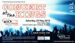Ticket stub - Roger Taylor live at the The Kings Arms, All Cannings, UK (Rock Against Cancer with SAS Band) [25.05.2013]