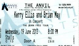 Ticket stub - Brian May live at the The Anvil, Basingstoke, UK [19.06.2013]